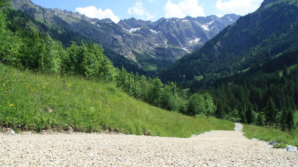 Bad Hindelang, Alpenwege-Bau zur Alpe Hasenegg